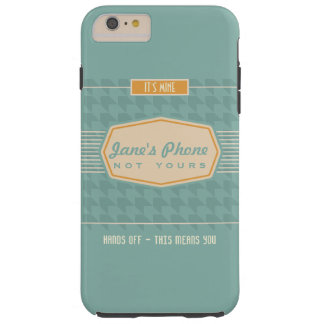 Retro Logo Funny Personalized Phone Case Aqua