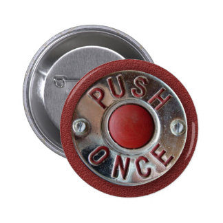 "Retro London Bus ""Push Once"" Stop Request 2 Inch Round Button"