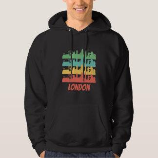 Retro London England Skyline Pop Art Hoodie