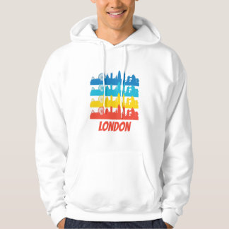 Retro London England Skyline Pop Art Hoodie