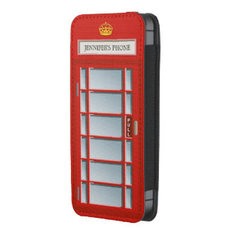 Retro London Phone Box Red Telephone Booth iPhone 5 Pouch