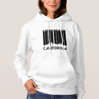 Retro Long Beach California Skyline Hoodie