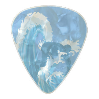Retro look surfer pearl celluloid guitar pick