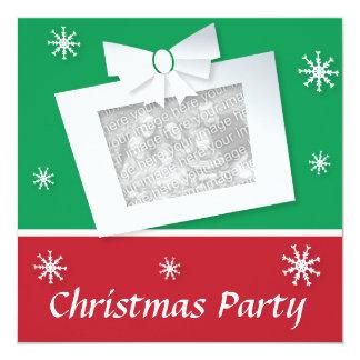 Retro look Xmas party invitite customizable photo Invitation