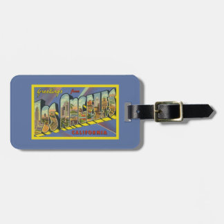 Retro Los Angeles Artwork California Greetings Luggage Tag