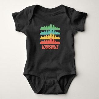 Retro Louisville KY Skyline Pop Art Baby Bodysuit