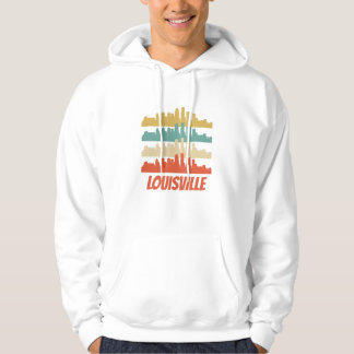 Retro Louisville KY Skyline Pop Art Hoodie