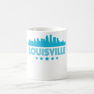Retro Louisville Skyline Coffee Mug
