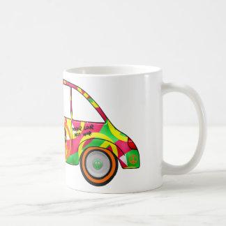 Retro Love Peace Retro 60's 70's Car Basic White Mug