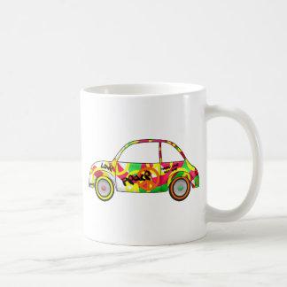 Retro Love Peace Retro 60's 70's Car Classic White Coffee Mug
