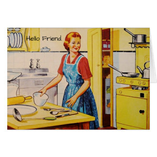 Retro Lover Thinking of You Friend Greeting Card