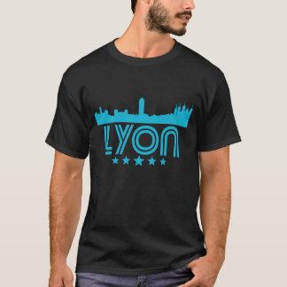 Retro Lyon Skyline T-Shirt