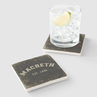 Retro Macbeth Stone Coaster