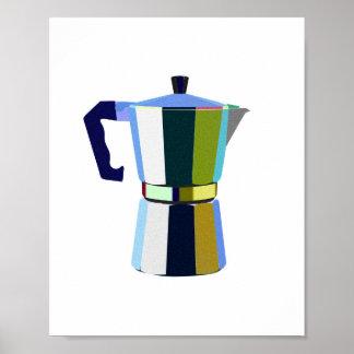 Retro macchinetta Italian espresso coffee art Poster