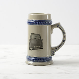 retro machine beer stein