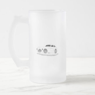 retro machine frosted glass beer mug