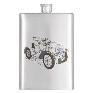 retro machine hip flask