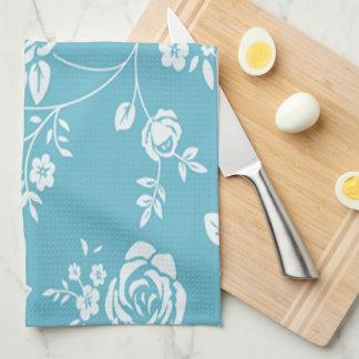 Retro_Maggie-Floral_Maggie Blue* Custom Color_ Kitchen Towel