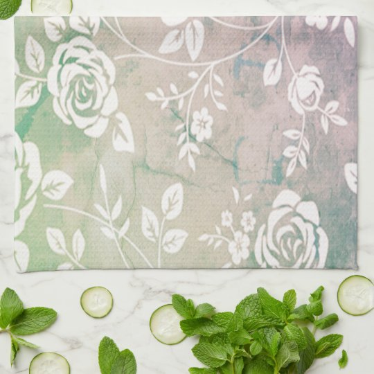 Retro_Maggie-FLoral_Reflections__Custom Color_ Kitchen Towel