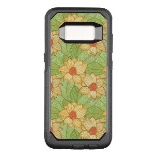 Retro Magnolia Pattern OtterBox Commuter Samsung Galaxy S8 Case