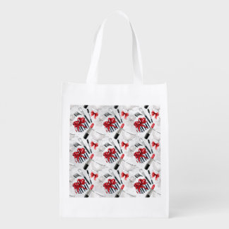 Retro Make Up Girly Trendy Colorful Reusable Grocery Bags