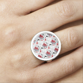Retro Make Up Girly Trendy Colorful Ring