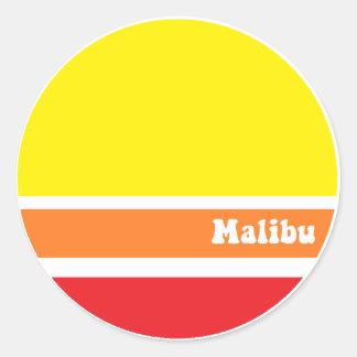Retro Malibu sticker