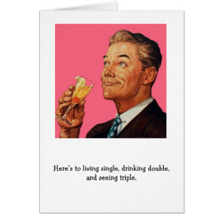 Retro Man - A Cocktail Party Toast, Card