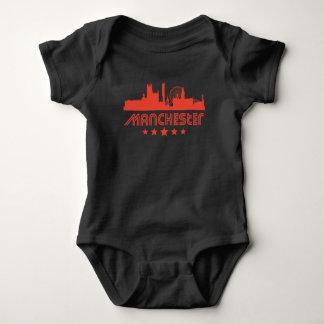 Retro Manchester Skyline Baby Bodysuit
