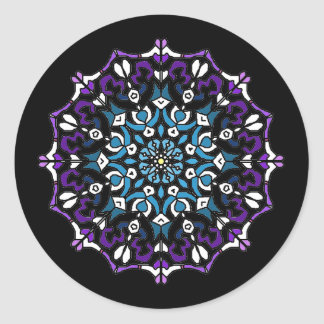 Retro Mandala Sticker 1