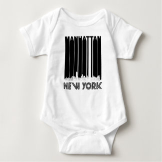 Retro Manhattan New York Skyline Baby Bodysuit