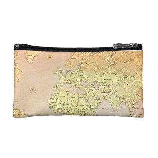Retro Map Vintage Cosmetic Bag