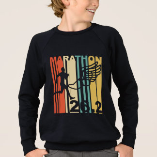 Retro Marathon Runner Sweatshirt