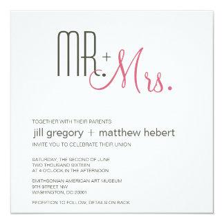 Rétro mariage moderne carton d'invitation  13,33 cm
