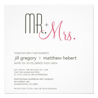 Rétro mariage moderne invitations
