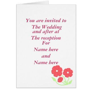 Rétro mariage rose floral stationnaire carte de vœux