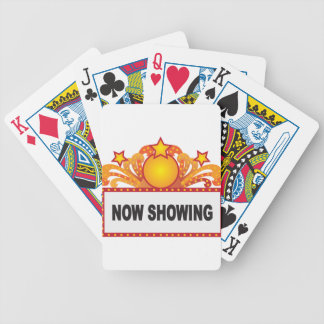 Retro Marquee Sign with Lights Illustration Bicycle Playing Cards