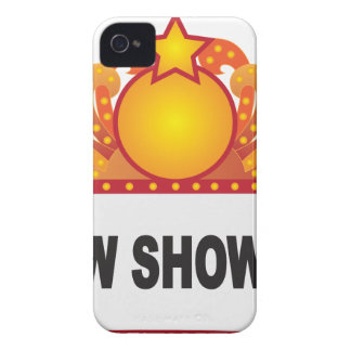 Retro Marquee Sign with Lights Illustration iPhone 4 Case-Mate Case