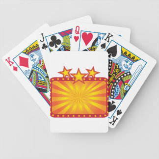 Retro Marquee Sign with Sun Rays Illustration Bicycle Playing Cards