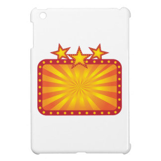 Retro Marquee Sign with Sun Rays Illustration iPad Mini Covers