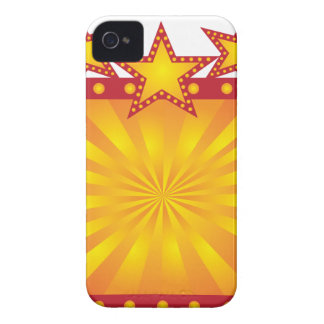 Retro Marquee Sign with Sun Rays Illustration iPhone 4 Case