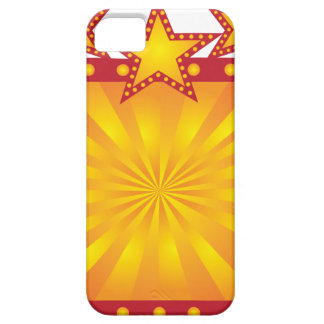 Retro Marquee Sign with Sun Rays Illustration iPhone 5 Case