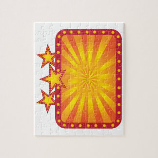 Retro Marquee Sign with Sun Rays Illustration Jigsaw Puzzle