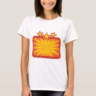 Retro Marquee Sign with Sun Rays Illustration T-Shirt