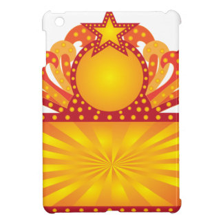 Retro Marquee Sign with Sunrays Stars Illustration Case For The iPad Mini