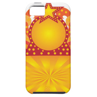 Retro Marquee Sign with Sunrays Stars Illustration Case For The iPhone 5