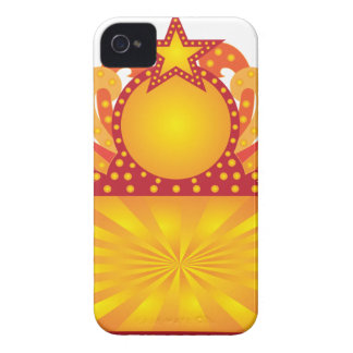 Retro Marquee Sign with Sunrays Stars Illustration iPhone 4 Cover