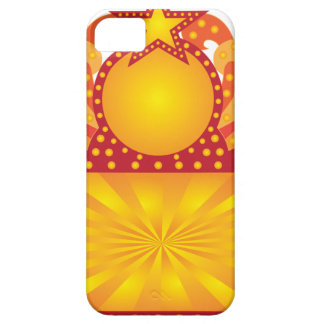 Retro Marquee Sign with Sunrays Stars Illustration iPhone 5 Case