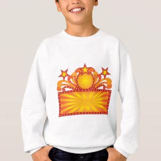 Retro Marquee Sign with Sunrays Stars Illustration Sweatshirt