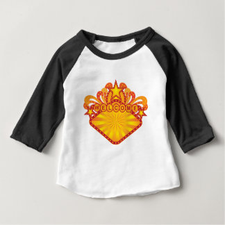 Retro Marquee Welcome Sign Illustration Baby T-Shirt